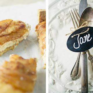 Toffee Apple Cheesecake Bars