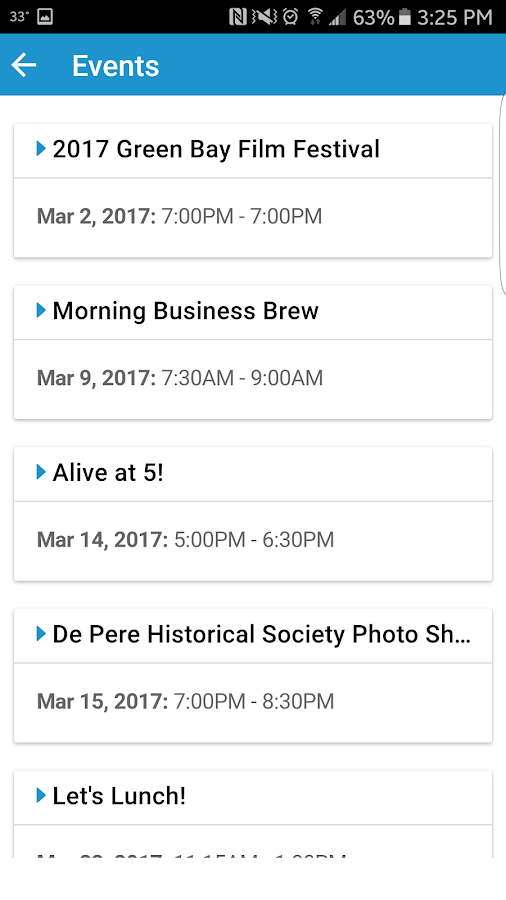 De Pere Chamber- screenshot