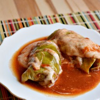 Cheesy Stuffed Cabbage Rolls