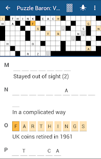 Acrostics Crossword Puzzles Screenshot