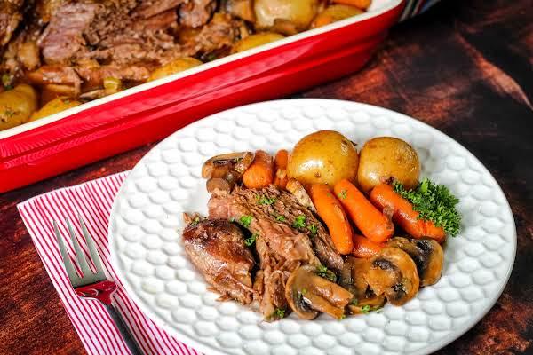 Best Crock Pot Chuck Roast On A Plate.