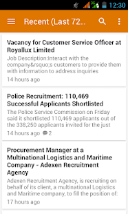 Nigerian Job Updates App- screenshot thumbnail