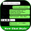 New chat style for whatsApp icon