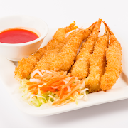 Deep fried breaded Shrimps