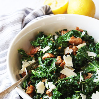 Kale and Turkey Sausage Saute with Parmesan [21 Day Fix]