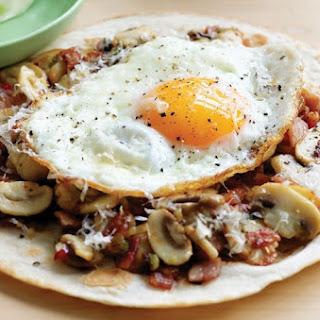 Mushroom Breakfast Tortilla.