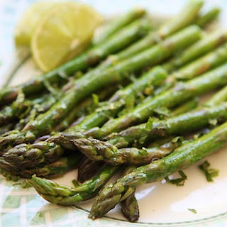 Asparagus with Lime and Mint.