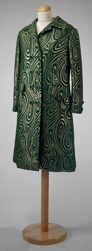 Green silk coat
