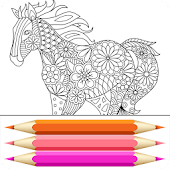 Coloring Book: Animal Mandala