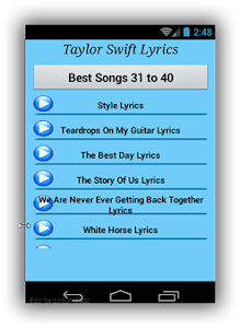 Taylor Swift Blank Space Songs screenshot 2