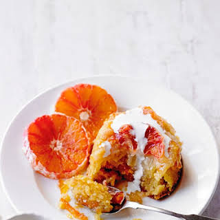 Blood Orange and Marmalade Steamed Puddings.