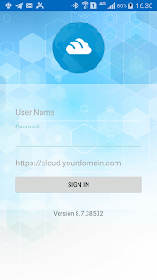 Cloud Android Client - náhled