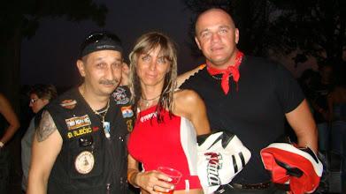 Photo: Bleki(predsjednik Motoscene) i Mrs.O(predsjednica croVmaxa) i maxi(tajnik croVmaxa)...