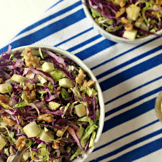 Brussels Sprouts Slaw with Cabbage & Apples.