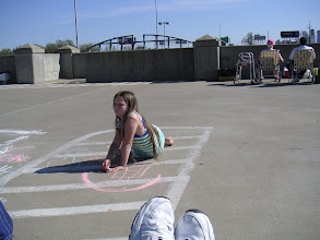 Photo: Cousin Susan was the artist who provided the chalk.