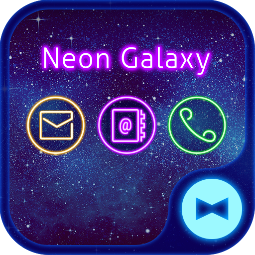 Stylish Wallpaper Neon Galaxy Theme Icon