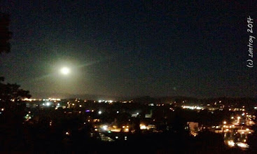 Photo: Grateful for the full moon on the hilltop.