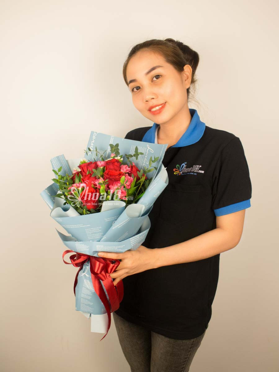 bó hoa tặng ngày 8 tháng 3