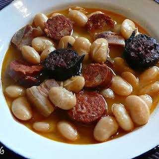 Asturian Pork and Beans.