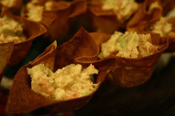 Salmon And Avocado Stuffed Wonton