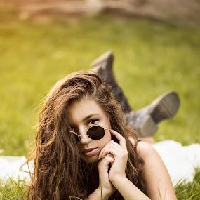 by Miloš Mirković - People Fashion ( beautiful, grass, model, retouch, portrait, girl, posing, photoshoot, colors )