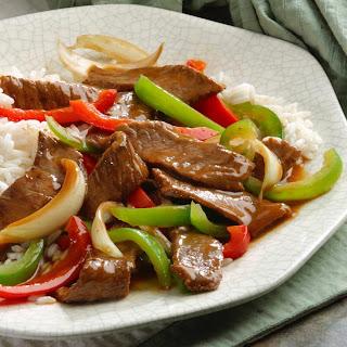 Weeknight Pepper Steak.