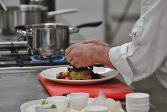 Photo: Finishing of the Medallions of Beef.