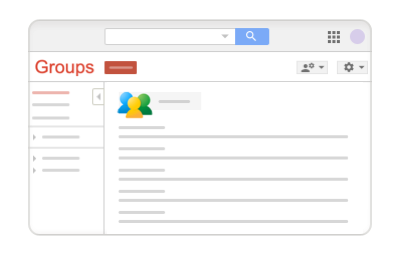 Classic Google Groups home page