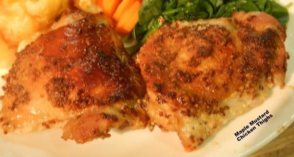 Maple Mustard Chicken Thighs Recipe