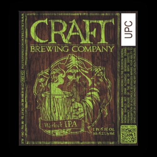 Logo of Craft Brewing Company Warlock IPA