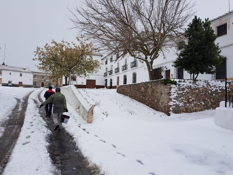 Nieve en El Contador (Chirivel). / Foto: Ayuntamiento de Chirivel