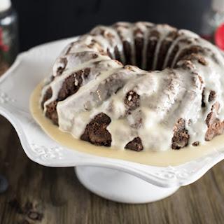 EGGNOG GINGERBREAD CAKE