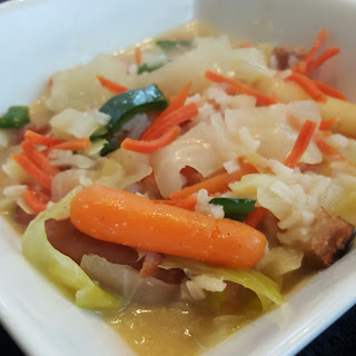 Pork Belly Cabbage Stew with Carrot Medley