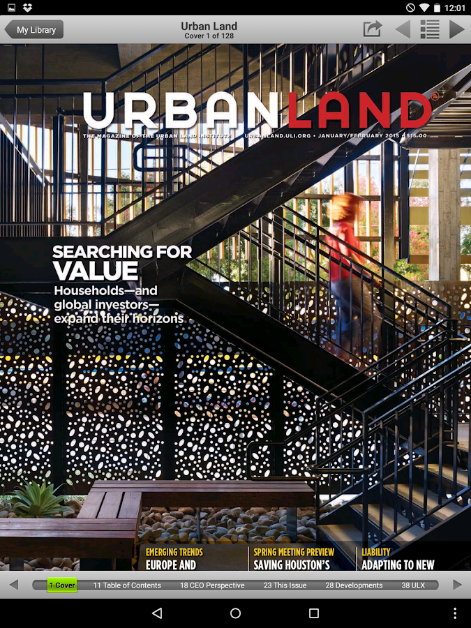 Urban Land Magazine - screenshot