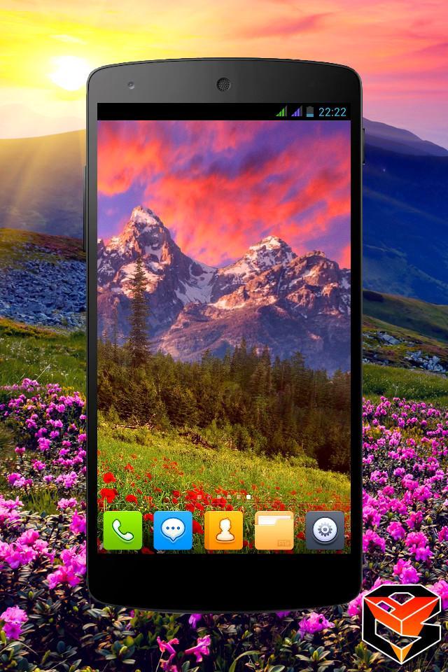 Mountain Flowers Pro Live Wallpaper Screenshot 5