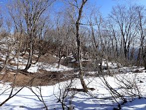 雪解けの池