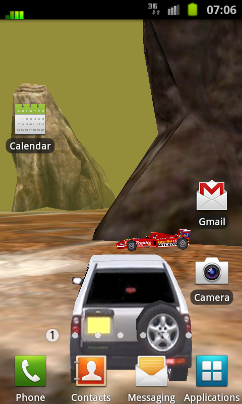 3D Car Racing Rocky Landscape- screenshot