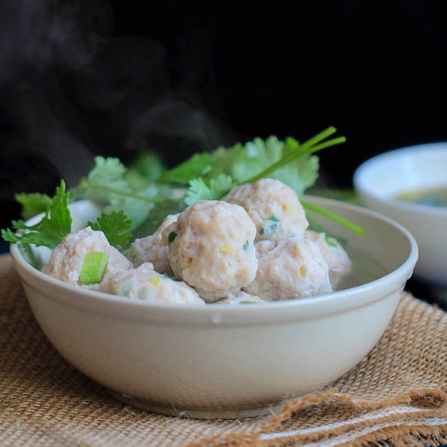 Easy Chinese Meatballs Recipe
