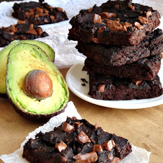 Fudgy Vegan Avocado Black Bean Protein Brownies.