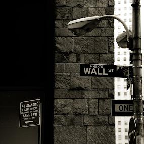 Wall Street by Surentharan Murthi - City,  Street & Park  Street Scenes