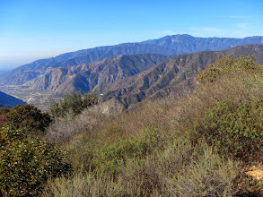 Photo: View west from near the summit of Glendora Peak with Monrovia Peak (5409') standing high on the skyline