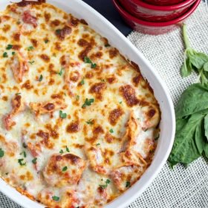 Twenty Minute Easy Tortellini Bake Recipe