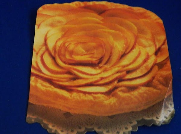 Apricot Glazed Peach Rose In A Puff Pastry Recipe