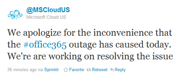 Microsoft Office 365 Outage