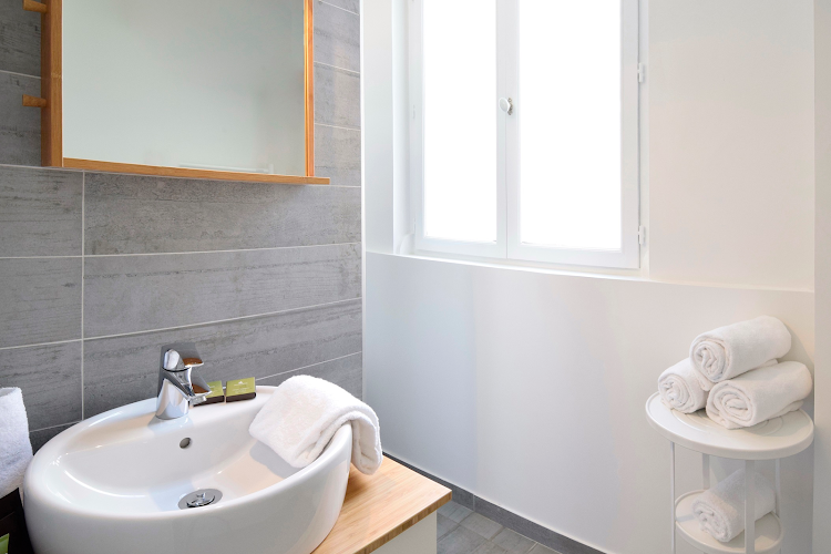 Bathroom at 2 bedroom Apartment in Montorgueil