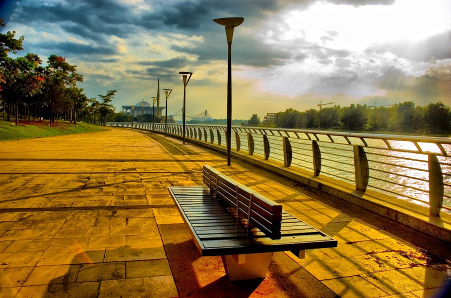 Road of the Sunset by Siau Teng - City,  Street & Park  Street Scenes