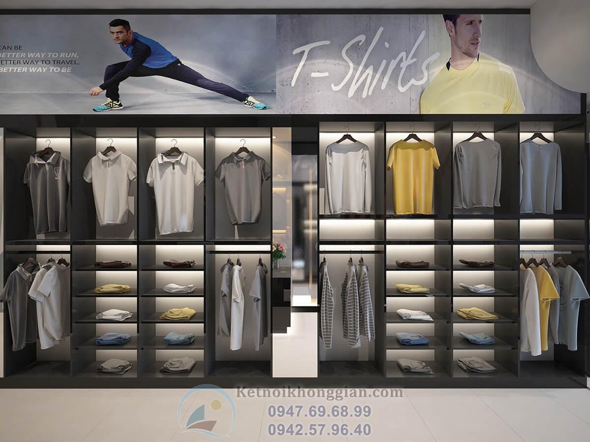 thiết kế cửa hàng thời trang nam hiện đại
