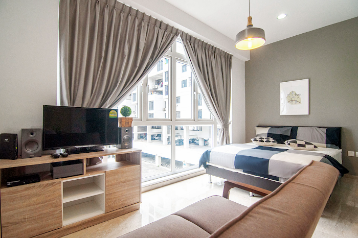 Comfy living area at Toa Payoh Serviced Apartments