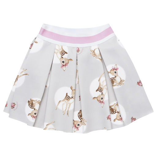 Primary image of Monnalisa Pleated Deer Skirt