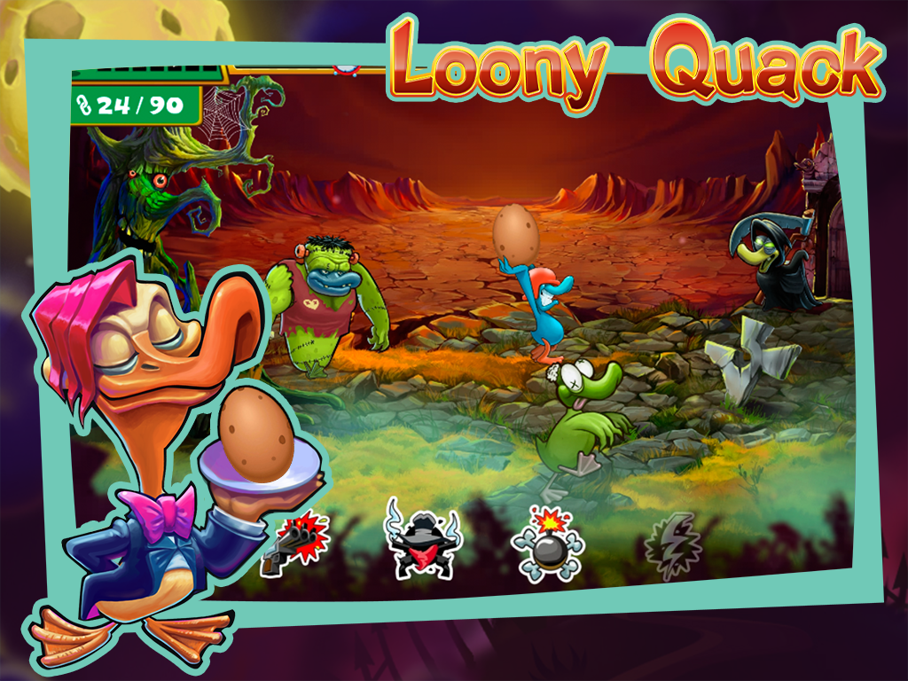 Loony Quack: Super Eggs- screenshot